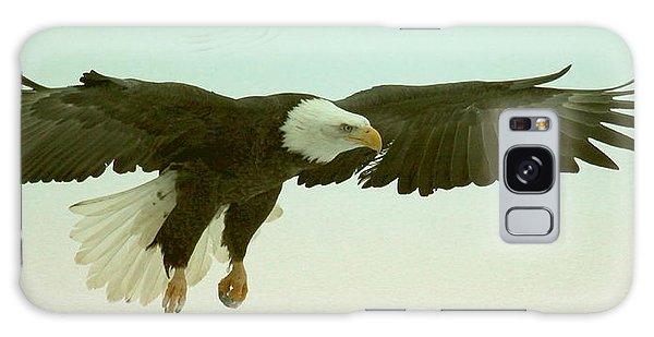 Eagle Landing Galaxy Case by Myrna Bradshaw