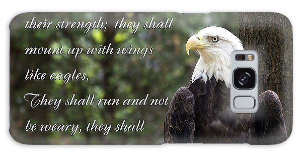 Eagle Scripture Isaiah Galaxy Case