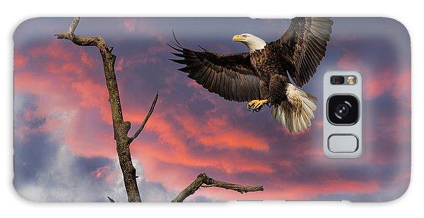 Eagle Sunset Landing Galaxy Case