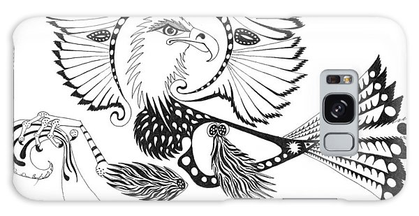 Eagle With A Banner Galaxy Case by Melinda Dare Benfield