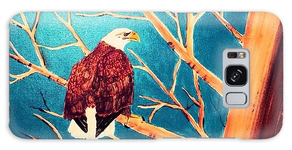 Eagles Perch Galaxy Case by Denise Tomasura