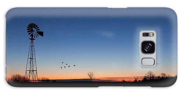 Sunrise Galaxy Case - Early Birds by Bill Wakeley