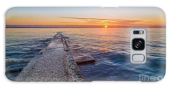 Early Breakwater Sunrise Galaxy Case