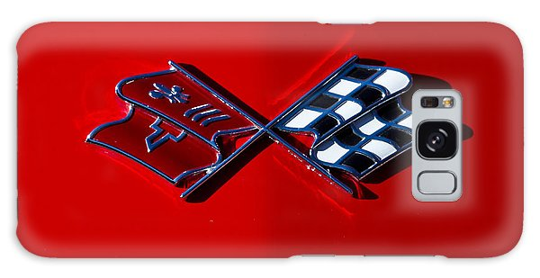 Early C3 Corvette Emblem Red Galaxy Case