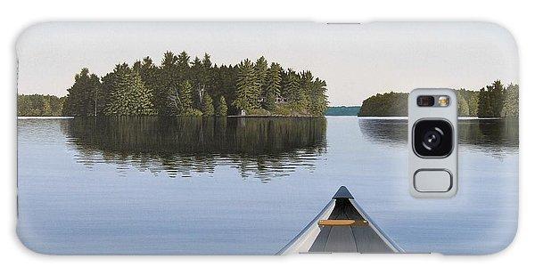 Dusk Galaxy Case - Early Evening Paddle Aka Paddle Muskoka by Kenneth M Kirsch