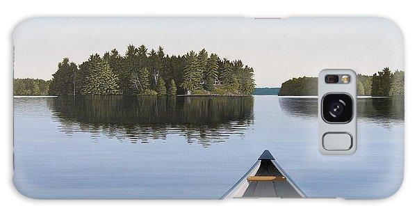 Early Evening Paddle Aka Paddle Muskoka Galaxy Case