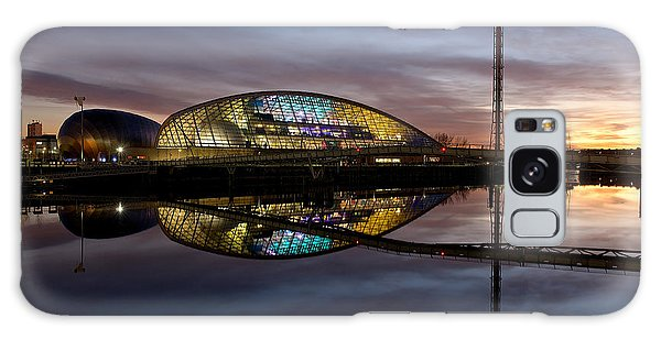 Early Evening Reflections Of The Science Centre Galaxy Case