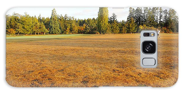 Early Fall Morning In The Rough On The Golf Course Galaxy Case