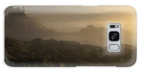 Early Morning Fog At Quoddy Galaxy Case by Marty Saccone
