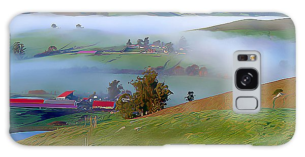 Early Morning Fog Over Two Rock Valley Galaxy Case by Wernher Krutein