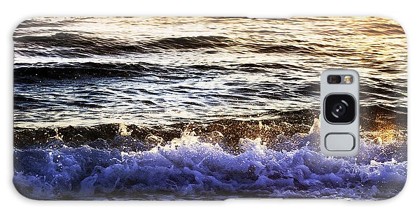 Early Morning Frothy Waves Galaxy Case