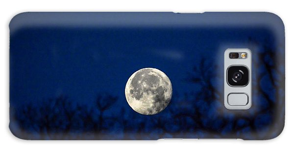Early Morning Moon Galaxy Case