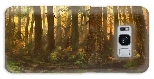 Early Morning Sun On Cannock Chase Galaxy Case by Jean Walker
