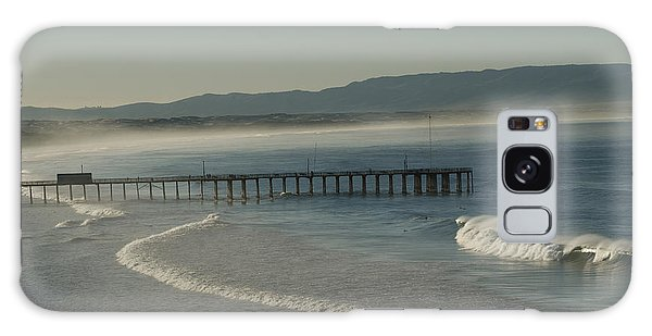 Early Morning Surf Pismo Beach Galaxy Case