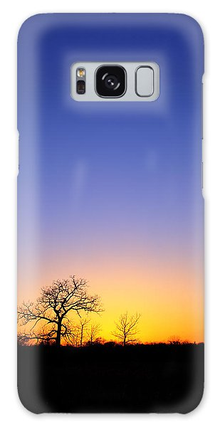 Early Spring Oak At Sunset Galaxy Case
