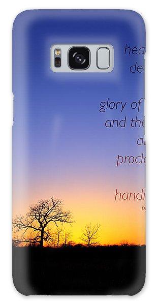 Early Spring Oak Psalms 19 Galaxy Case