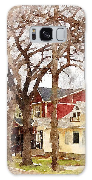 Early Spring Street Galaxy Case by Donald S Hall