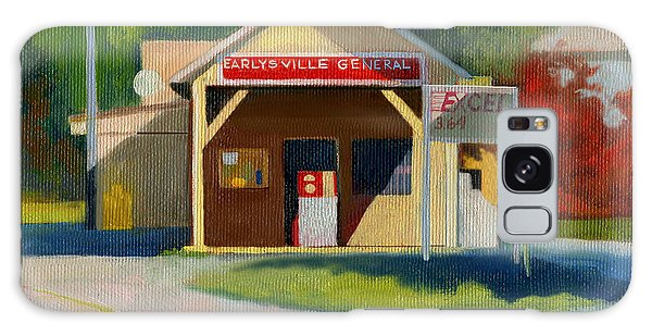 Earlysville Virginia Old Service Station Nostalgia Galaxy Case by Catherine Twomey