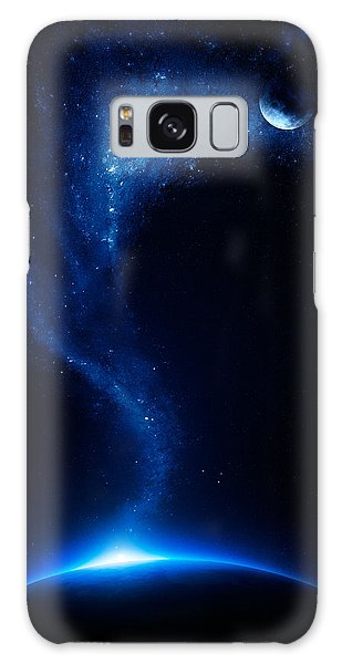 Earth Galaxy Case - Earth And Moon Interconnected by Johan Swanepoel