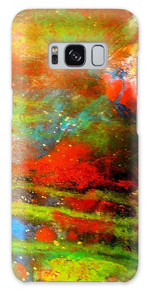 Earth And Sky Abstract Galaxy Case by Carolyn Repka