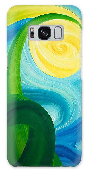 Earth And Sky Meet Galaxy Case by Ginny Gaura