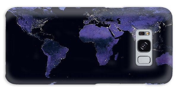 Earth From Space Galaxy Case - Earth At Night by Nasa Earth Observatory/miguel Roman/gsfc/science Photo Library
