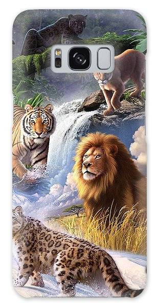 Lion Galaxy Case - Earth Day 2013 Poster by Jerry LoFaro