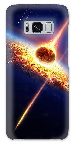 Earth Galaxy Case - Earth In A  Meteor Shower by Johan Swanepoel