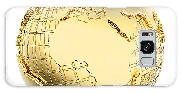 Metal Galaxy Case - Earth In Gold Metal Isolated - Africa by Johan Swanepoel