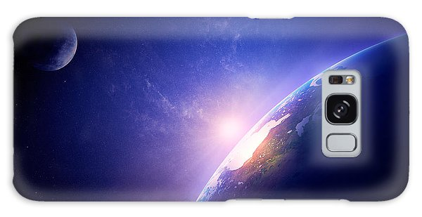 Earth Galaxy Case - Earth Sunrise In Foggy Space by Johan Swanepoel