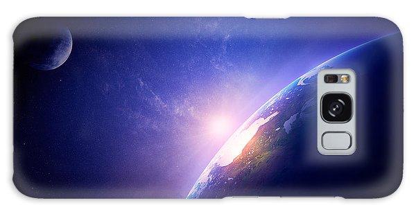Fog Galaxy Case - Earth Sunrise In Foggy Space by Johan Swanepoel