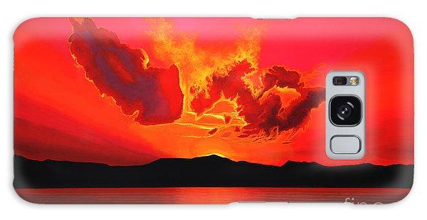 Atlantic Ocean Galaxy Case - Earth Sunset by Paul Meijering