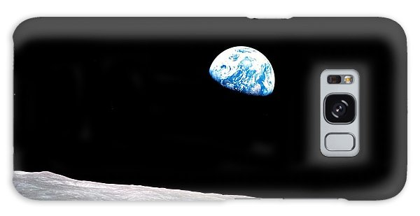 Galaxy Case featuring the photograph Earthrise Nasa by Rose Santuci-Sofranko