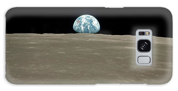 Earth From Space Galaxy Case - Earthrise Over Moon by Nasa