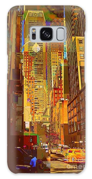 East 45th Street - New York City Galaxy Case by Miriam Danar
