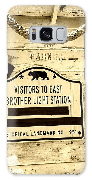 East Brother Light Station Visitor Sign Galaxy Case