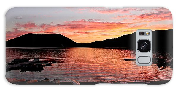East Lake Sunset Galaxy Case by Erica Hanel