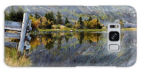 East Rosebud Lake Fall Panorama Galaxy Case