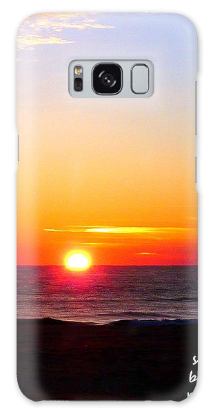 East. Sleep. Beach Sunrise Galaxy Case