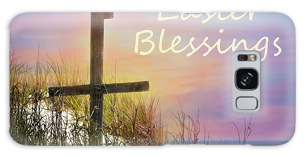 Easter Blessings Cross Galaxy Case