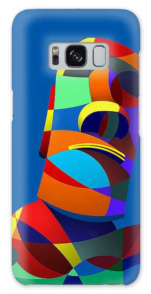 Easter Island Blue Galaxy Case by Randall Henrie