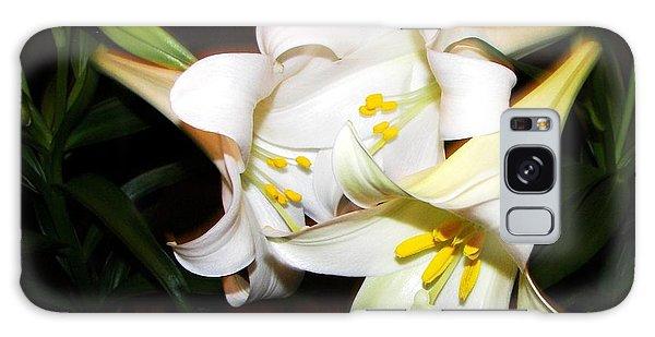 Easter Lilies Galaxy Case by Pamela Hyde Wilson