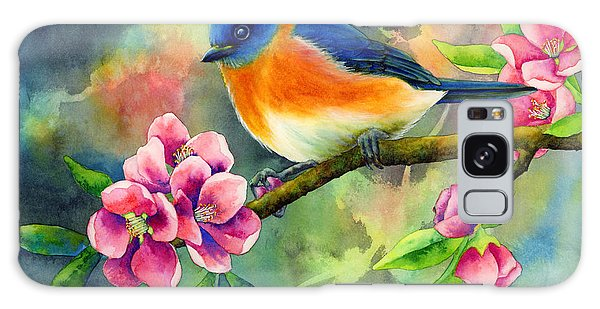 Bluebird Galaxy Case - Eastern Bluebird by Hailey E Herrera