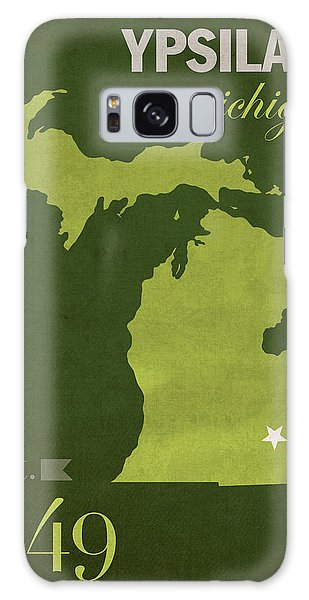 Eastern Michigan University Eagles Ypsilanti College Town State Map Poster Series No 035 Galaxy Case by Design Turnpike