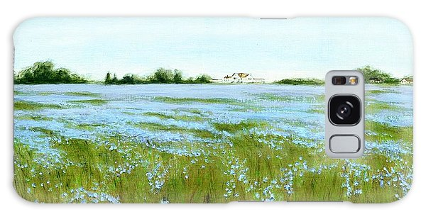 Eastern Shore Maryland Field Of Blue Flowers Galaxy Case