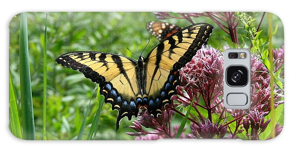 Eastern Tiger Swallowtail On Joe Pye Weed Galaxy Case by Neal Eslinger