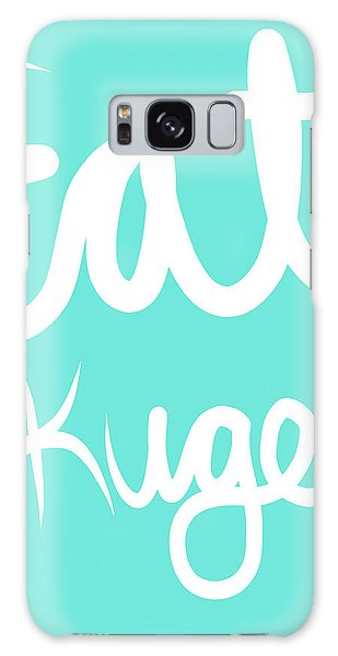 Food Galaxy Case - Eat Kugel - Blue And White by Linda Woods