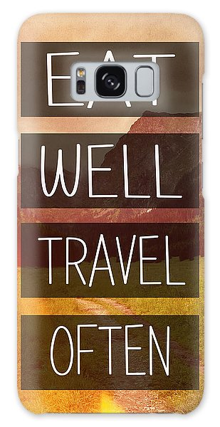 Travel Galaxy Case - Eat Well Travel Often by Pati Photography
