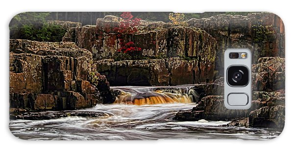 Waterfall Under Colored Leaves Galaxy Case