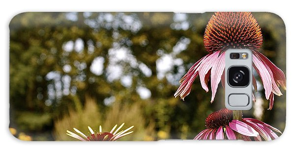 Echinacea With Bee Galaxy Case by Linda Bianic